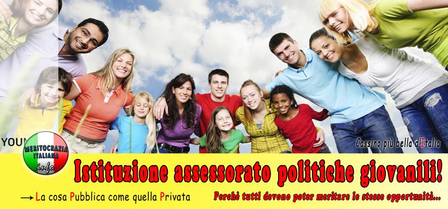 Istituzione assessorato alle politiche giovanili