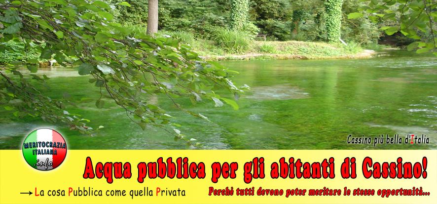 Acqua pubblica per gli abitanti di Cassino