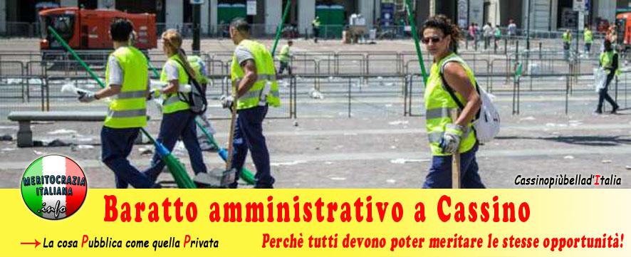 Baratto amministrativo a Cassino