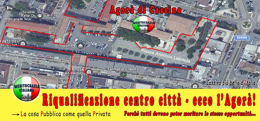 Riqualificazione centro città – ecco l'Agorà di Cassino